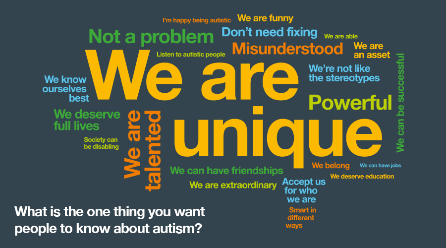 What is the one thing you want people to know about autism?