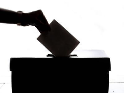 General election voting box image