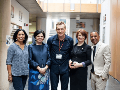 David Mitchell visits TreeHouse School